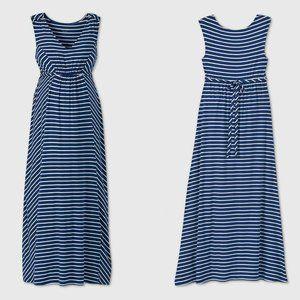 Striped Tank Maternity Dress Blue New $30